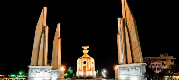 Democracy Monument at Night. Bangkok, Thailand.