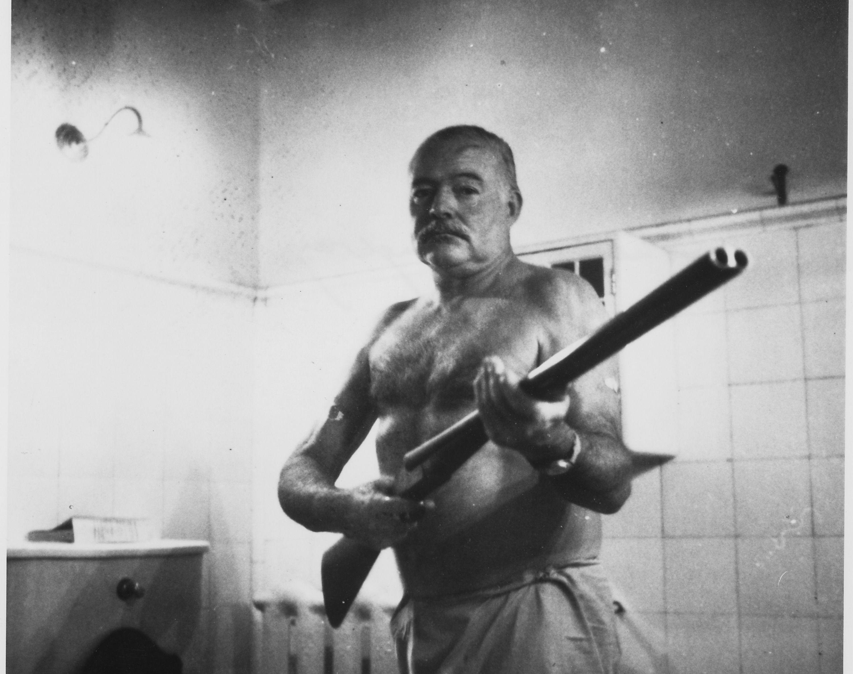 Ernest Hemingway with his Shotgun